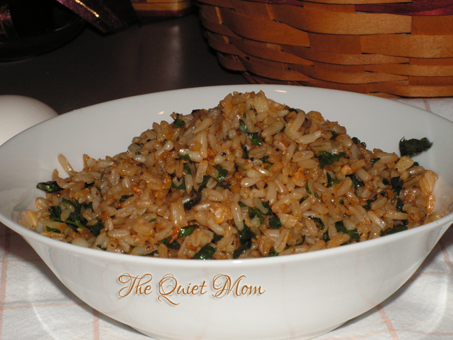 Garlic-Parsley Fried Brown Rice | The Quiet Mom